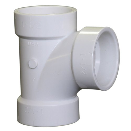NIBCO 4811 Series PVC DWV Sanitary Pipe Fitting, Tee, 2