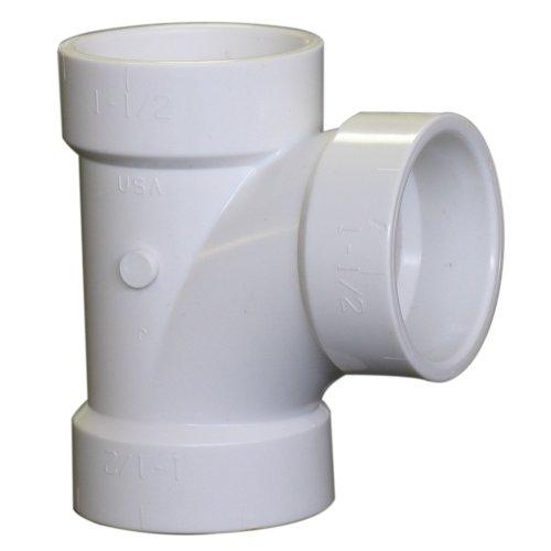 (NIBCO 4811 Series PVC DWV Sanitary Pipe Fitting, Tee, 1-1/2