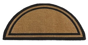 (Kempf Half Round Black Borderer Coco Mat in Two Sizes (24