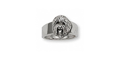 Old English Sheepdog Jewelry Sterling Silver Old English Sheepdog Ring Handmade Dog Jewelry OE2-R