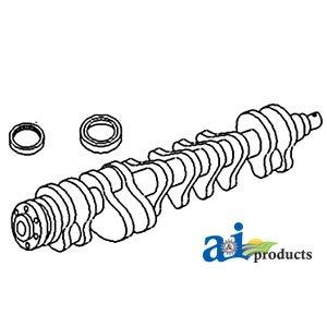 A&I - Crankshaft, Splined Nose, Rope Seal (E-SN 354UA10362 > ). PART NO: A-36...