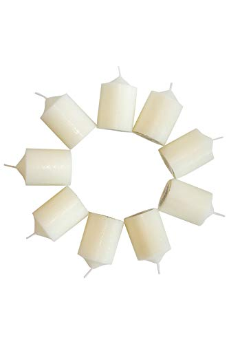 Enlightened Ambience Mediterranean Fig Highly Scented Ivory Votive Candles 10 Pack