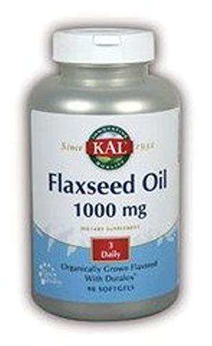 Kal 1000 Mg High Lignan Flaxseed Seed Oil, 90 Count