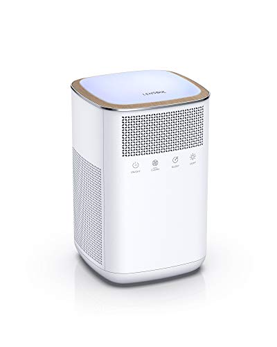 LENSOUL True HEPA Air Purifiers for Home Allergies and Pets, Smoke, Dust and Pollen, Air Cleaner with H13 Filter, Sleep Mode, Night Light, for Bedroom, Large Room