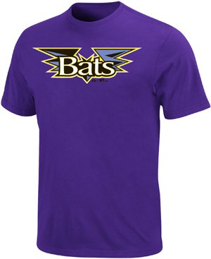 (Minor League Louisville Bats T-Shirt Style Jersey (Adult Large) )
