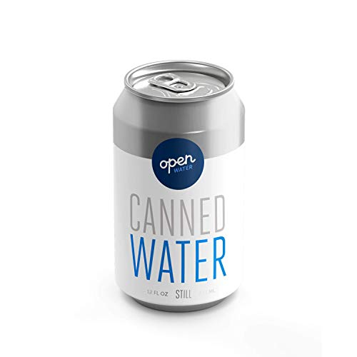 - Open Water - Still Canned Drinking Water in 12-ounce Aluminum Cans (4 Cases - Canned Still Water, 48 cans total)
