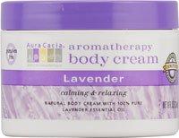 Aura Cacia lavande, Aromathérapie Crème pour le corps, de 8 onces Jar