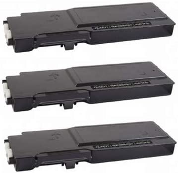 3//PK-6000 Page Yield HD47M/_3PK SuppliesMAX Compatible Replacement for Dell C2660DN//C2665DNF Black Toner Cartridge