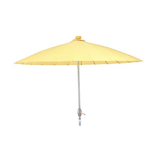 Siena Garden 604609 Sunshine Schirm Bezug gelb Gestell silber Ø 270 cm