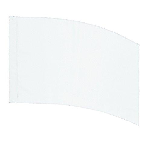 DSI Color Guard Practice Flag (PCS) - Curved Rectangle - White