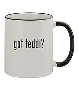 got Teddi? - 11oz Colored Rim & Handle Sturdy Ceramic Coffee Cup Mug, Black