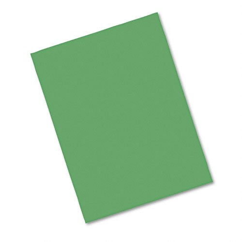 Riverside Groundwood Pulp Heavyweight Recycled Construction Paper, 76 lb, 9 x 12 Inches, Dark Green, Pack of 50 -