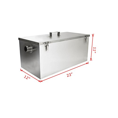 Industrial Kitchen Grease Trap: BEAMNOVA® Commercial 25LB 13GPM Gallon Per Minute Grease