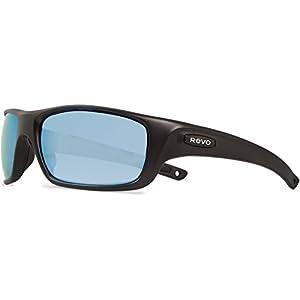 Revo Guide II RE 4073 11 BL Polarized Wrap Sunglasses, Matte Black, 61 mm