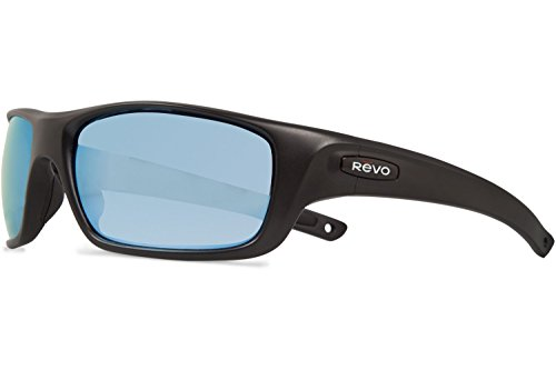 Revo Guide II RE 4073 11 BL Polarized Wrap Sunglasses, Matte Black, 61 - Sunglasses Revo Men