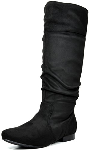 (DREAM PAIRS Women's BLVD Black Knee High Pull On Fall Weather Boots Size 9.5 M US )