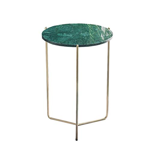 - L-Life End Tables Side Table End Table, Marble Coffee Table, Side Table of Living Room Bedroom Sofa Family Corridor,404055 cm (Color : Green)