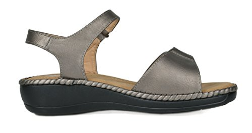 DREAM Platform Women's PAIRS 05 Wedge pewter Sandal FrqFvTp