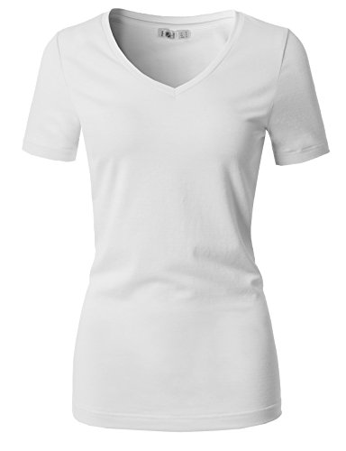- H2H Women's Tops Short Sleeve Casual Striped T-Shirt Tunics Blouse White US M/Asia M (CWTTS0151)
