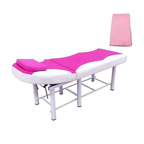 Professional Massage Table Facial Solon Spa Tattoo Bed Spa Facial Pink and white Free towel delivery