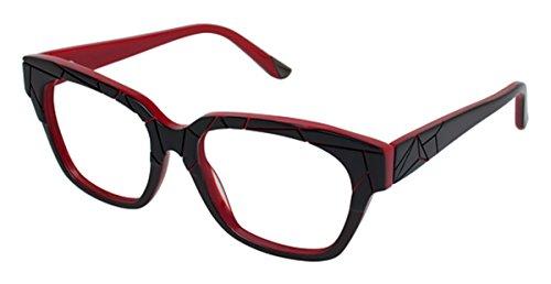 L.A.M.B. Women's LA010 Black Red 51mm Eyeglasses, Size 51-16-135