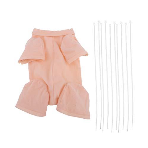 Prettyia Handmade 24inch Reborn Cloth Body Baby Supplies 3/4 Arm Full Leg Doll Clothes Kit DIY Making