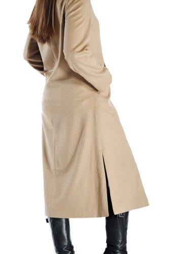 Women's Full Length Overcoat in Pure Cashmere (Camel, 12)