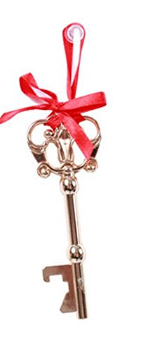 Life Size Magical Old Style Santa Key Ornament in Red Gift Box with Ribbon Bow ~ Gold Tone Metal