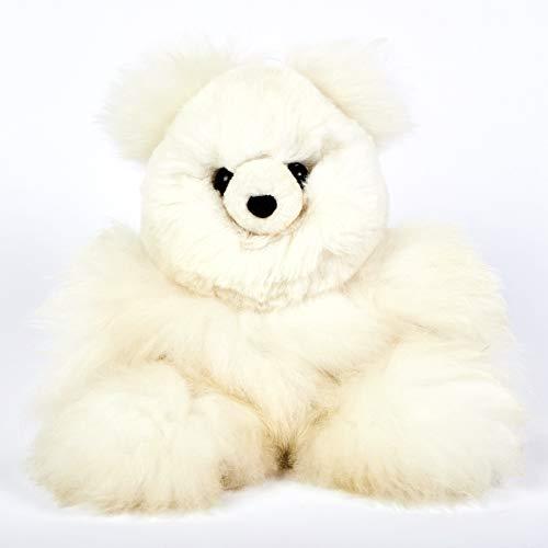 Raymis 100% Baby Alpaca Fur Teddy Bear Plush Figure Toy Stuffed (12-Inch)
