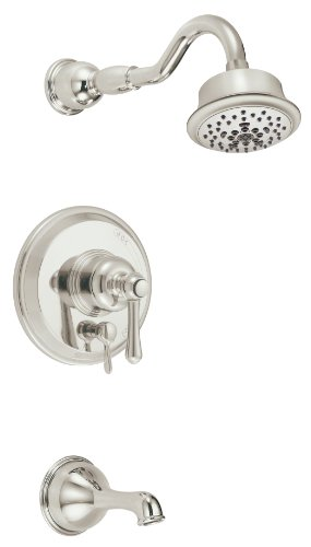 (Danze D502257PNVT Opulence Single Handle Tub and Shower Trim Kit, 2.5 GPM, Valve Not Included, Polished Nickel)