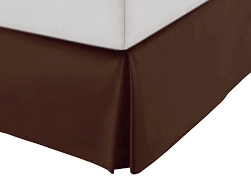 chocolate bed skirt cal king - 6