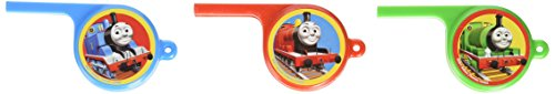 amscan Fun Thomas The Tank Whistle Birthday Party Favours Toy and Prize, 3