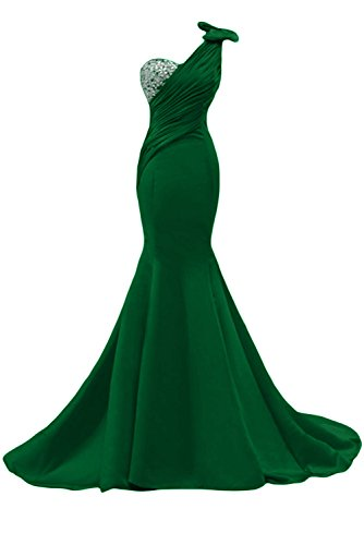 abiti da Gowns sera da Mermaid lunghi spalla Una Green Pageant Sunvary Hunter abito per Gorgeous donna 8qpA7v