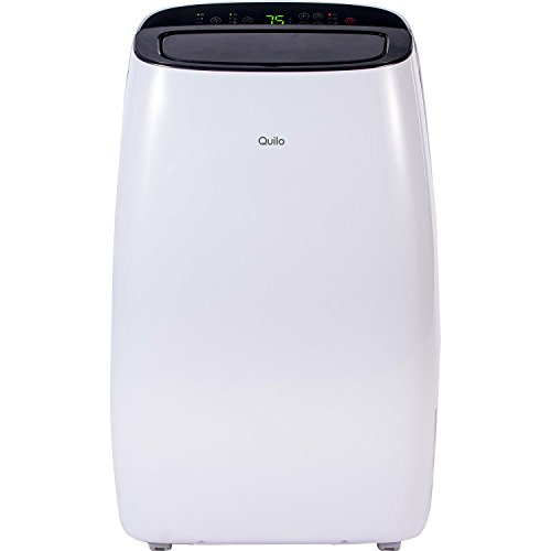 Quilo QP112WK Portable Air Conditioner with Dehumidifier & Fan for Rooms Up To 550 Sq. Ft. with Remote Control  in White/Black by Quilo