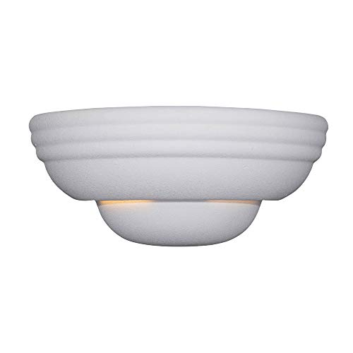 Fountain Fountains Ceramic - Designers Fountain 6030-WH Value Collection Wall Sconces, Paintable Ceramic