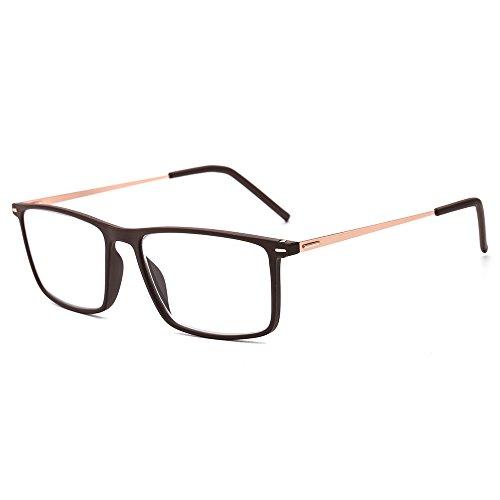 Suertree Reading Glasses Ultralight Computer Glasses Women Men Slim Readers Vintage Stainless Steel Frame Eyewear BM502