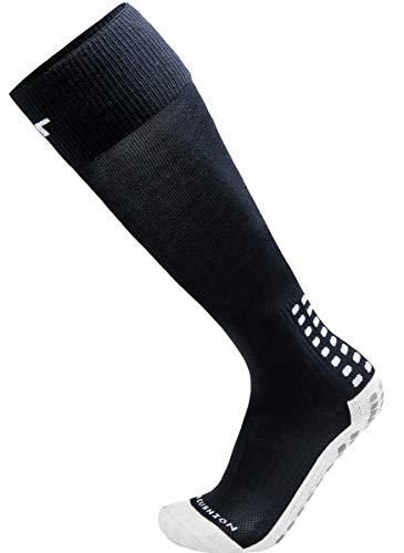 TRUSOX Unisex Cushioned Over Knee High Soccer Football Socks, No Slip with Grip Pads, 1 Pair, Medium, Black, Shoe Size US(M 7-9.5, W 8-10.5)        - No Mens Fear Jerseys