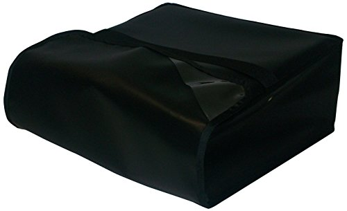 TCB Insulated Bags PK-322-Black Insulated Pizza Delivery Bag, Holds 3 Each 20'' Pizzas, 22'' x 22'' x 7'', Black by TCB Insulated Bags