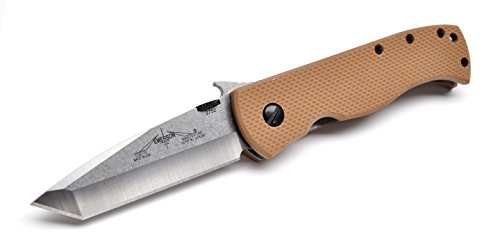 Emerson CQC7V Desert Tan handles with plain stonewashed blade by Emerson Knives