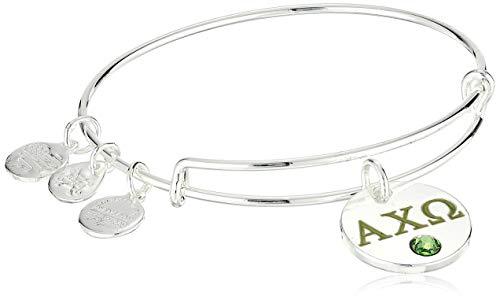 Alex and Ani Women's Color Infusion Alpha Chi Omega II EWB Bracelet, Shiny Silver