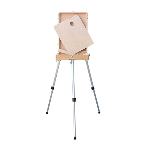Adult Aluminum Field Easel For Painting - Adjustable Drawing Tripod, Holder, Stand With Handy Carrying Storage Bag For Outdoor Table-Folding Art Bracket Top Floor Drawing Field Painting Sketching ()