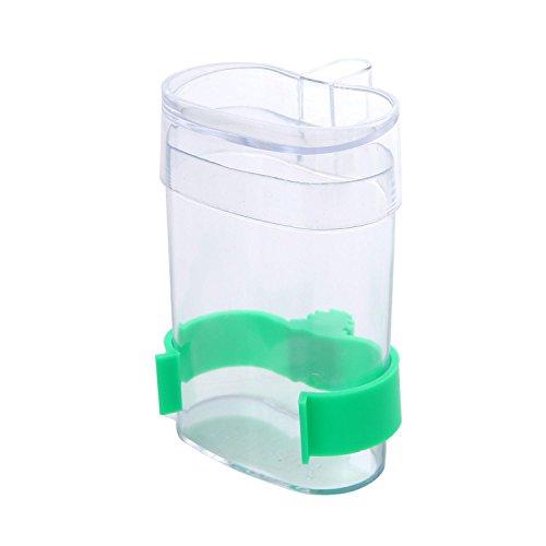 Aolvo Bird Cage Water Bottle, Automatic Bird Feeder, 220ML Durable Clear Bird Waterer Dispenser Bowl For Aviary Budgie Cockatiel Finch Canary Lovebird Bird Feeder Farming Feeding Container ()