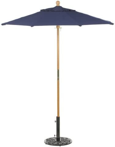 oxford garden sunbrella 6 foot market umbrella navy blue