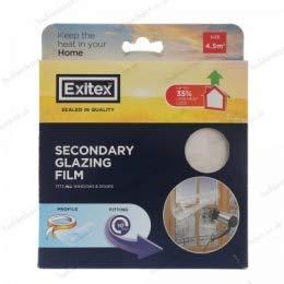 Insulating Film for Windows, Transparent Glazing Film 4.5m2 (3m x 1.5m) Exitex 4.5msq