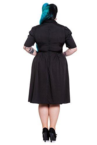 Hell Bunny Plus Vintage Black Lace Insert Tea Dress (2XL)