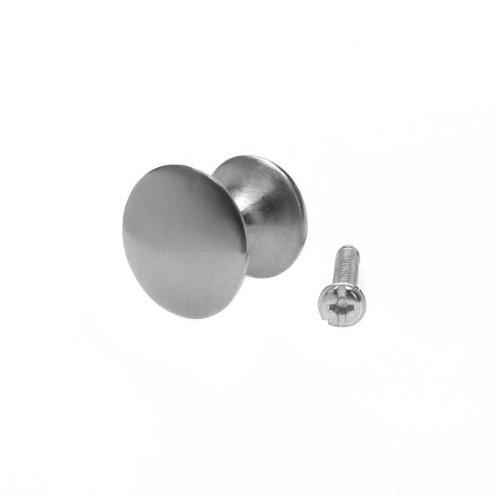 Gazechimp 10x Rond Boutons Poign/ée de Porte Pour Armoire Tiroir Placard Chrome