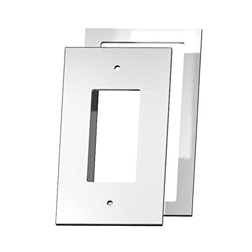 Cut Acrylic Mirror (Crystal Cut Mirror 1 Decorator Wall Plate with Clear Acrylic)