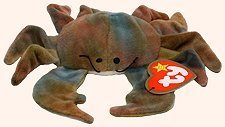 - TY Teenie Beanie Babies Claude the Crab Stuffed Animal Plush Toy - 4 inches long by Smartbuy