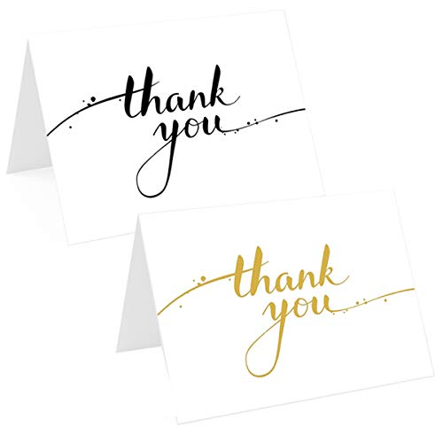 Recycled Eco Friendly 16 Stylish Thank You Card Set with x 2 Designs Thank...