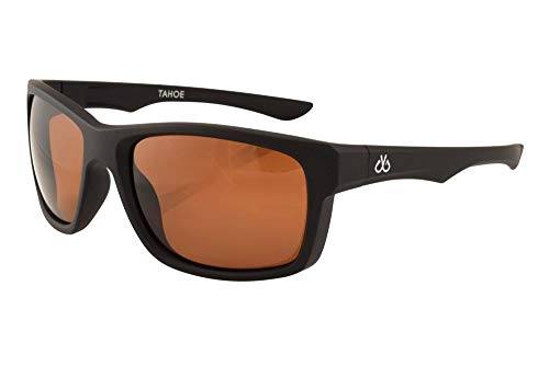 Filthy Anglers Tahoe Fishing Sunglasses Black Square Frame Brown Amber Polarized Lenses 100% ()